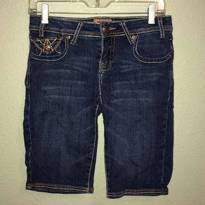 Pants - Juniors size 5 blue denim Bermuda shorts